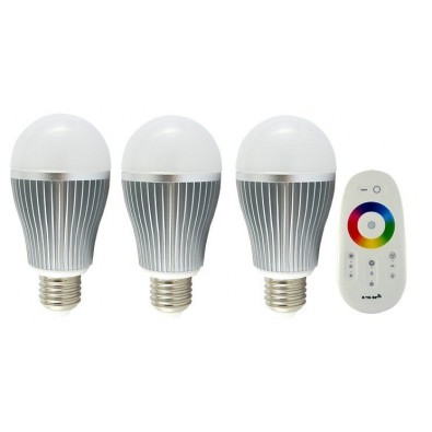 3 Ampoules LED E27 Multicolores télécommandées | Led Flash
