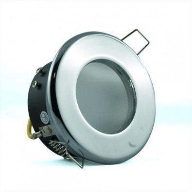 Support spot led étanche chrome | Led-Flash