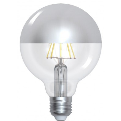 "Globe led filament E27 8W ""Calotte argentée"" 