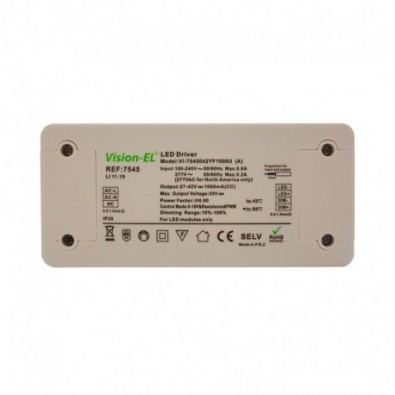 Transformateur 42W Dimmable 1-10V