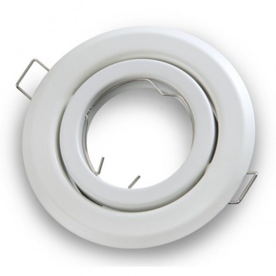 Support spot rond orientable 100mm Blanc | Led Flash
