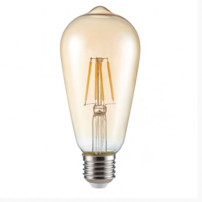 Ampoule LED filament E27 ST 64 6 watt (eq. 50 watt) | Led Flash