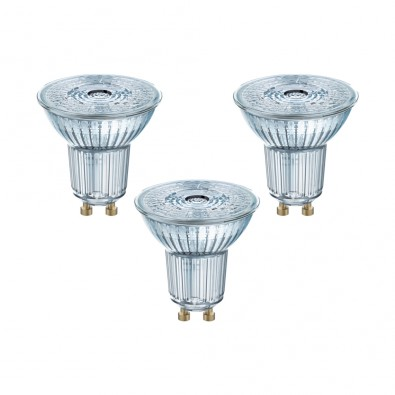 Lot de 3 Spots GU10 PAR16 36° 2,6 watt (eq. 35W) blanc chaud