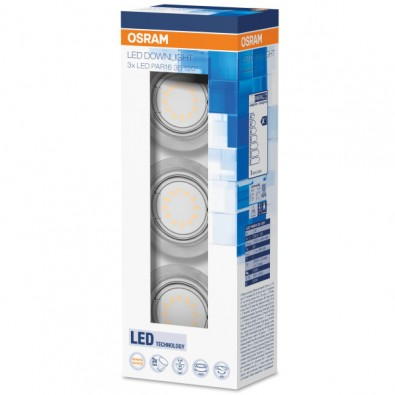 Lot de 3 spots LED encastrable 3x3 watt - Blanc chaud