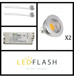 Kit Spot LED GU5.3 COB 4W Dimmable | Led Flash